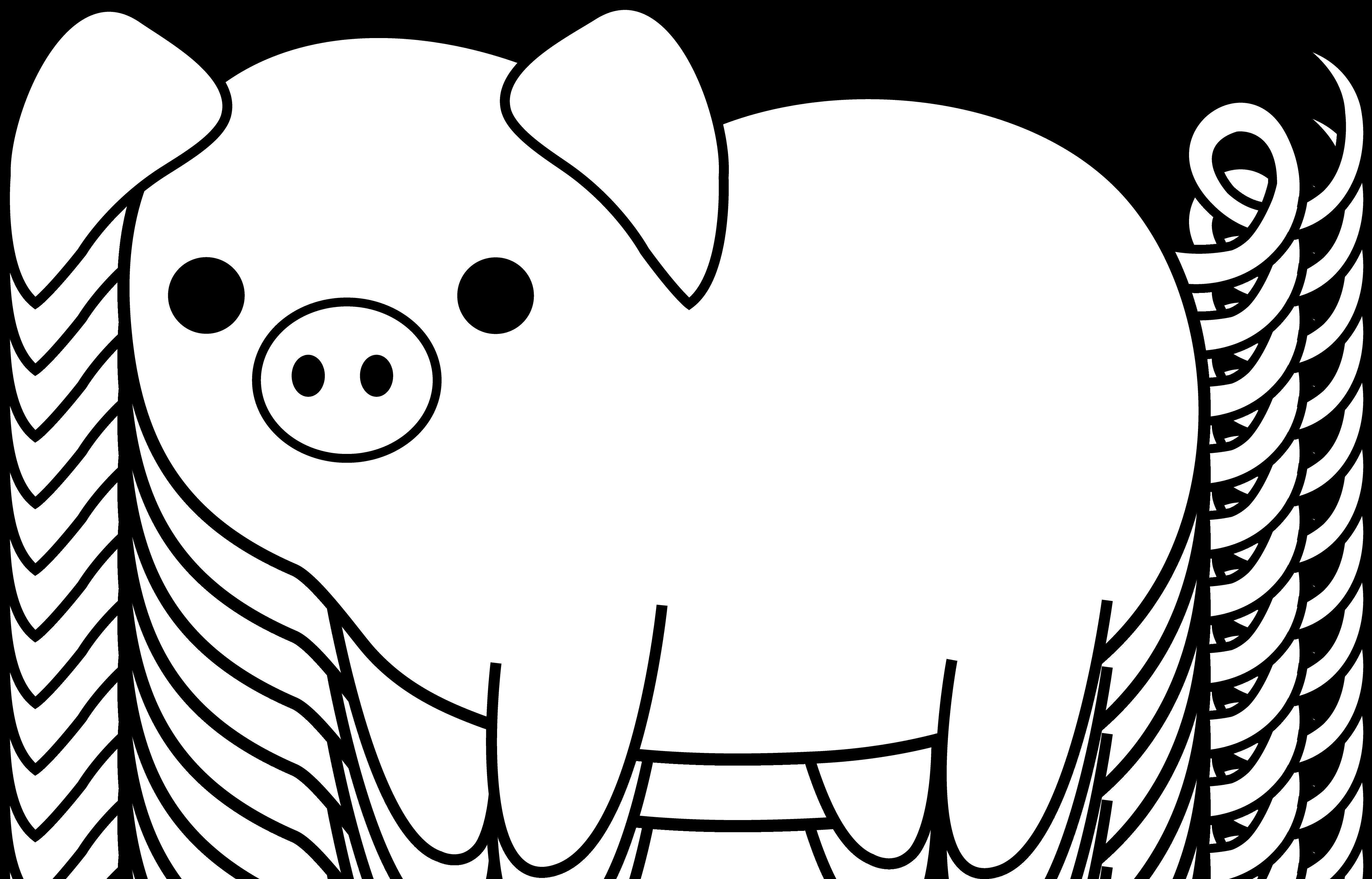 Pig Line Art - Cliparts.co