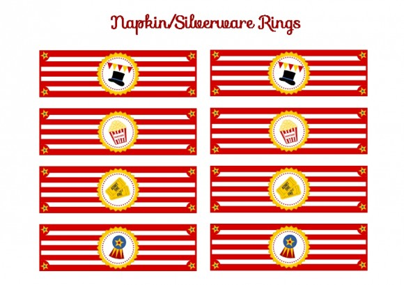FREE Circus Birthday Party Printables from Printabelle | Catch My ...