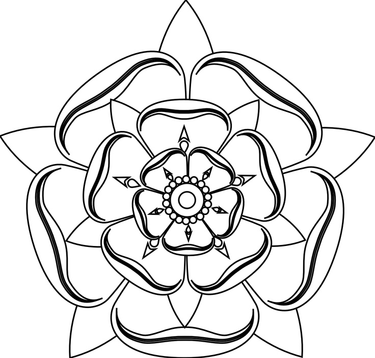 Line Drawing Rose Flower : Rose line art cliparts