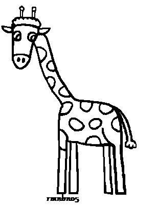 Giraffe Line Art by rmnbn05 on deviantART