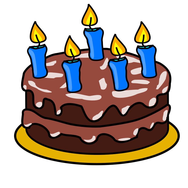 Free Clipart Birthday Cake With Candles Nice | Birthday Cakes