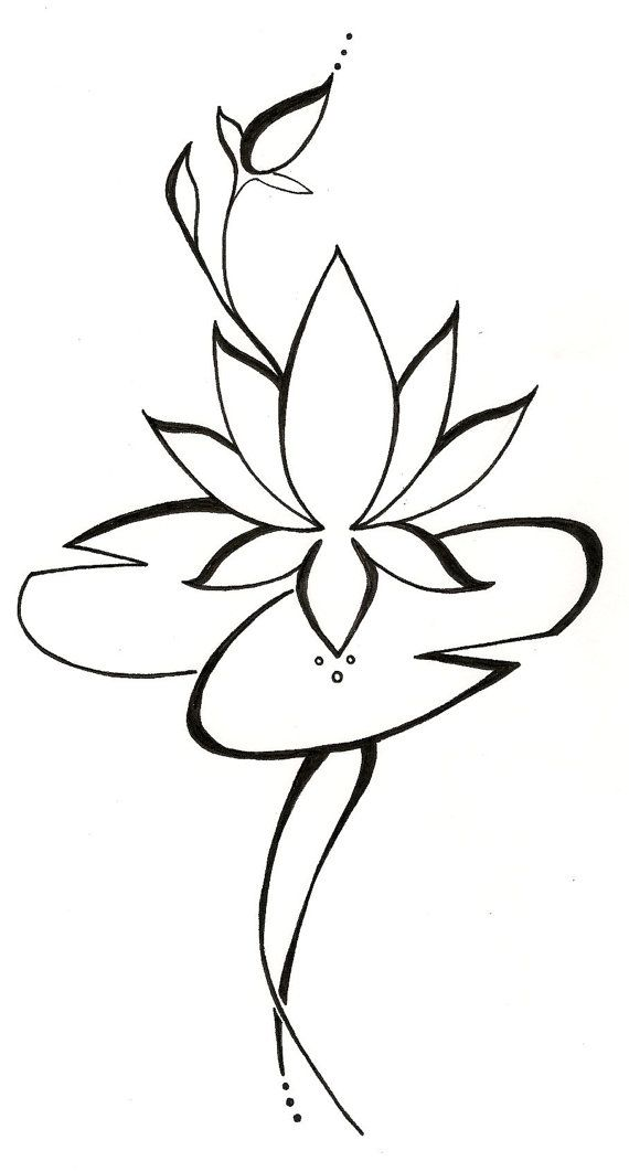 Lily Tattoo Line Drawing : Lily pad picture cliparts