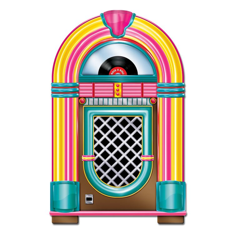 50 39 s rockn 39 jukebox diecut cutout party decoration sock for Decoration 50 s