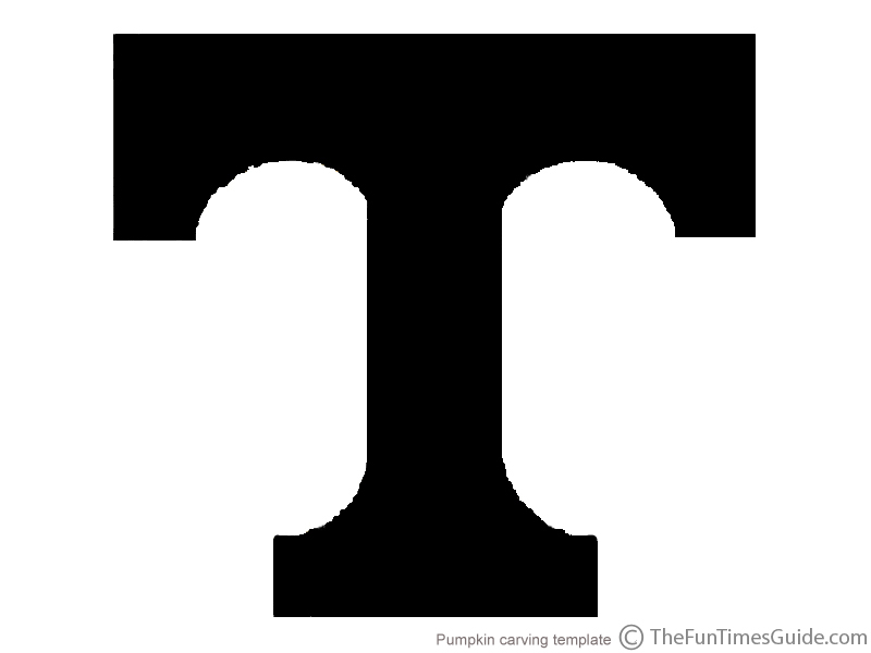 UT Pumpkin Template For University Of Tennessee Fans | The Fun ...