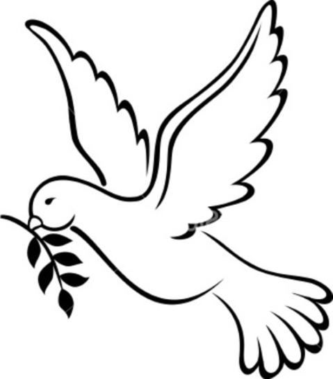 Printable Peace Signs on Pigeon Coloring Page