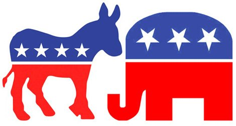 Democrat And Republican Symbol Democratic Party Donke...