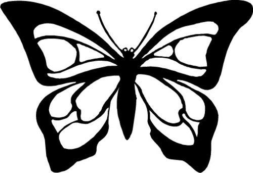 Butterfly Outline Clipart Clipartsco