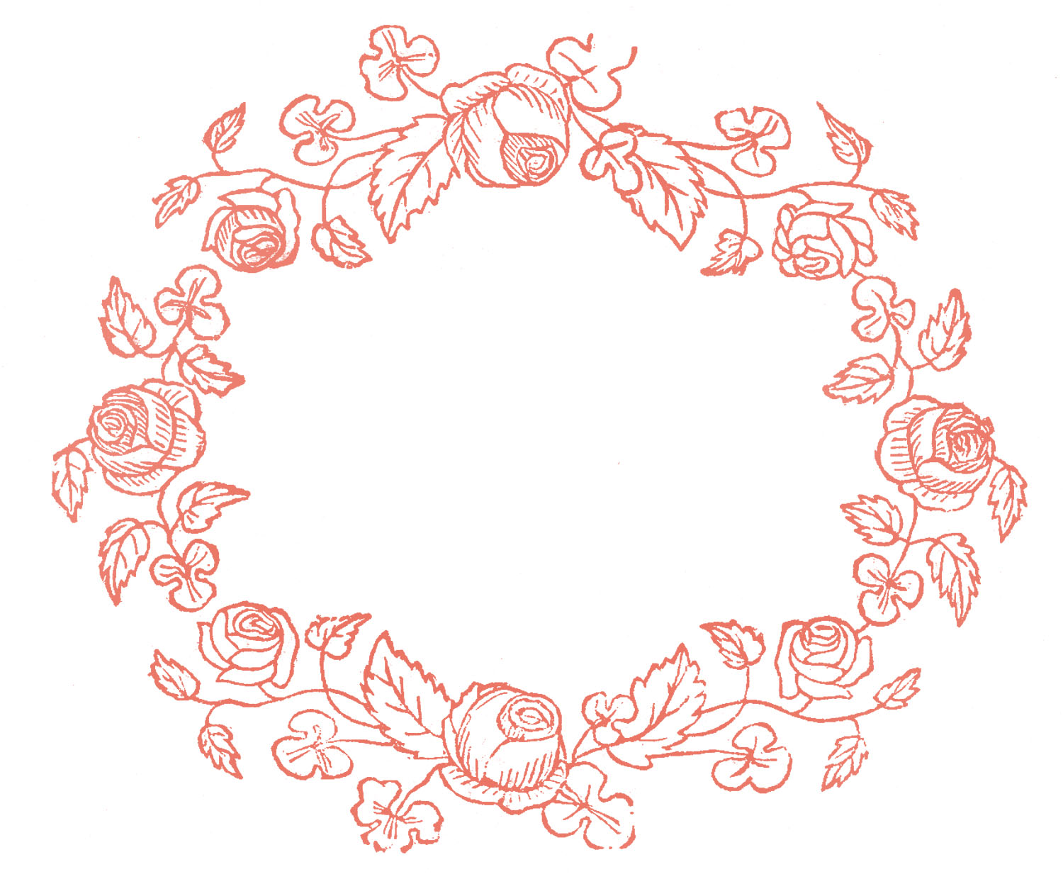 Royalty Free Images - Rose Wreaths - Embroidery Pattern - The ...