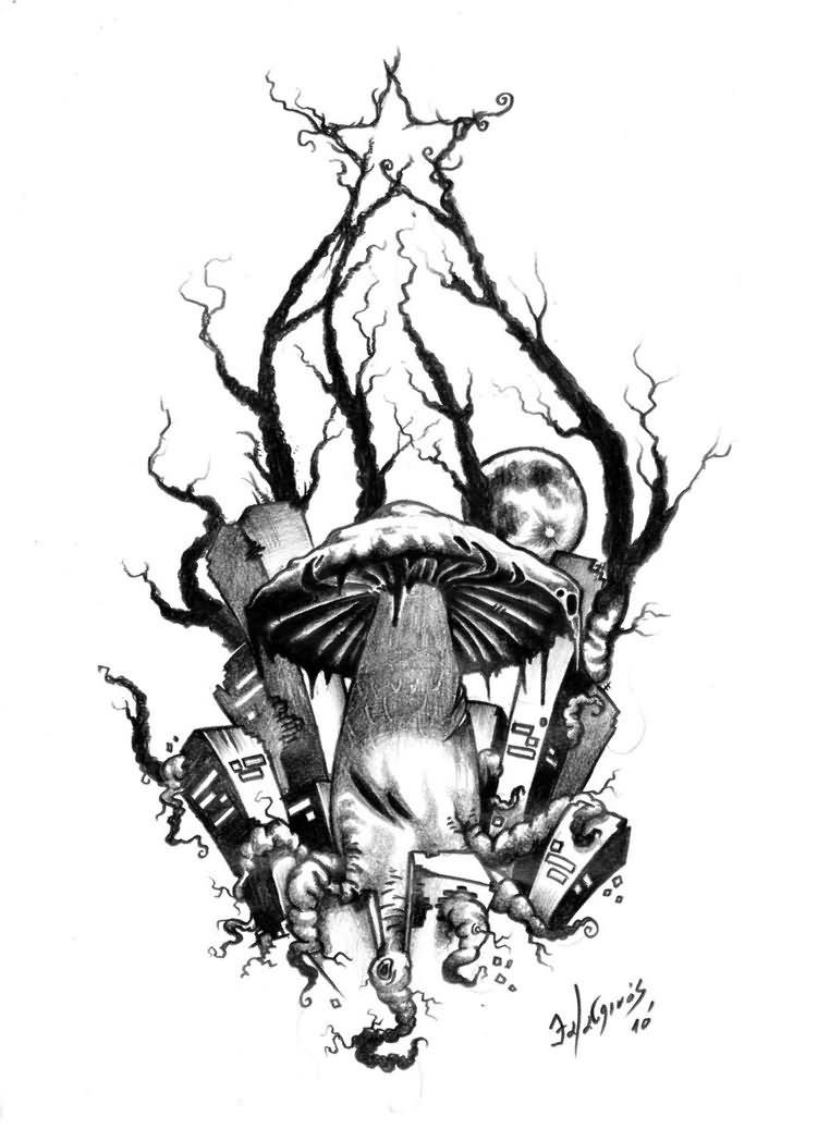 Evil Skull Tattoo Designs - Cliparts.co