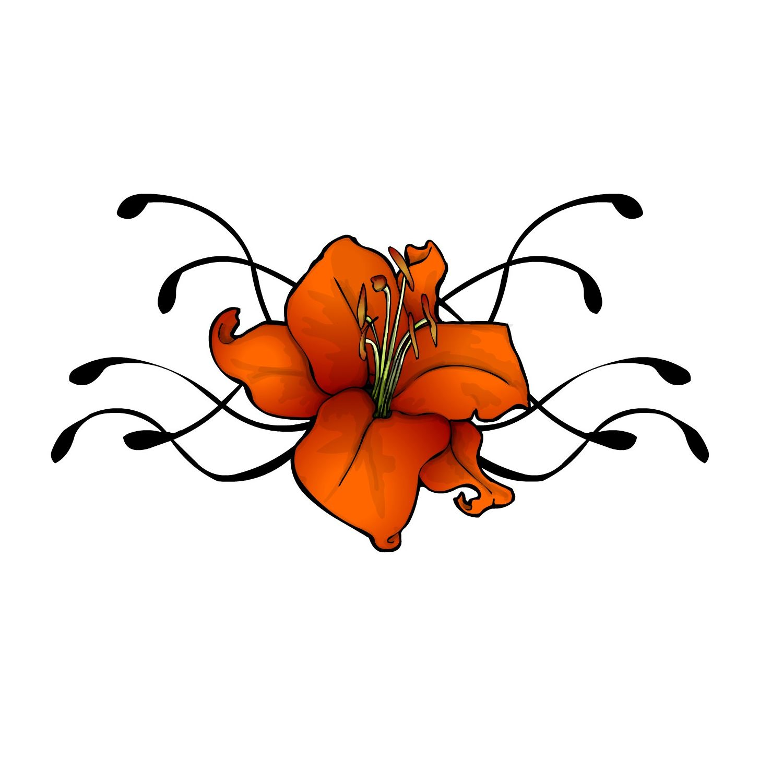 pictures of flower tattoo designs. Black Bedroom Furniture Sets. Home Design Ideas
