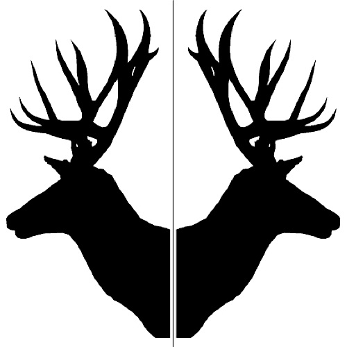 Crafty image pertaining to deer head silhouette printable