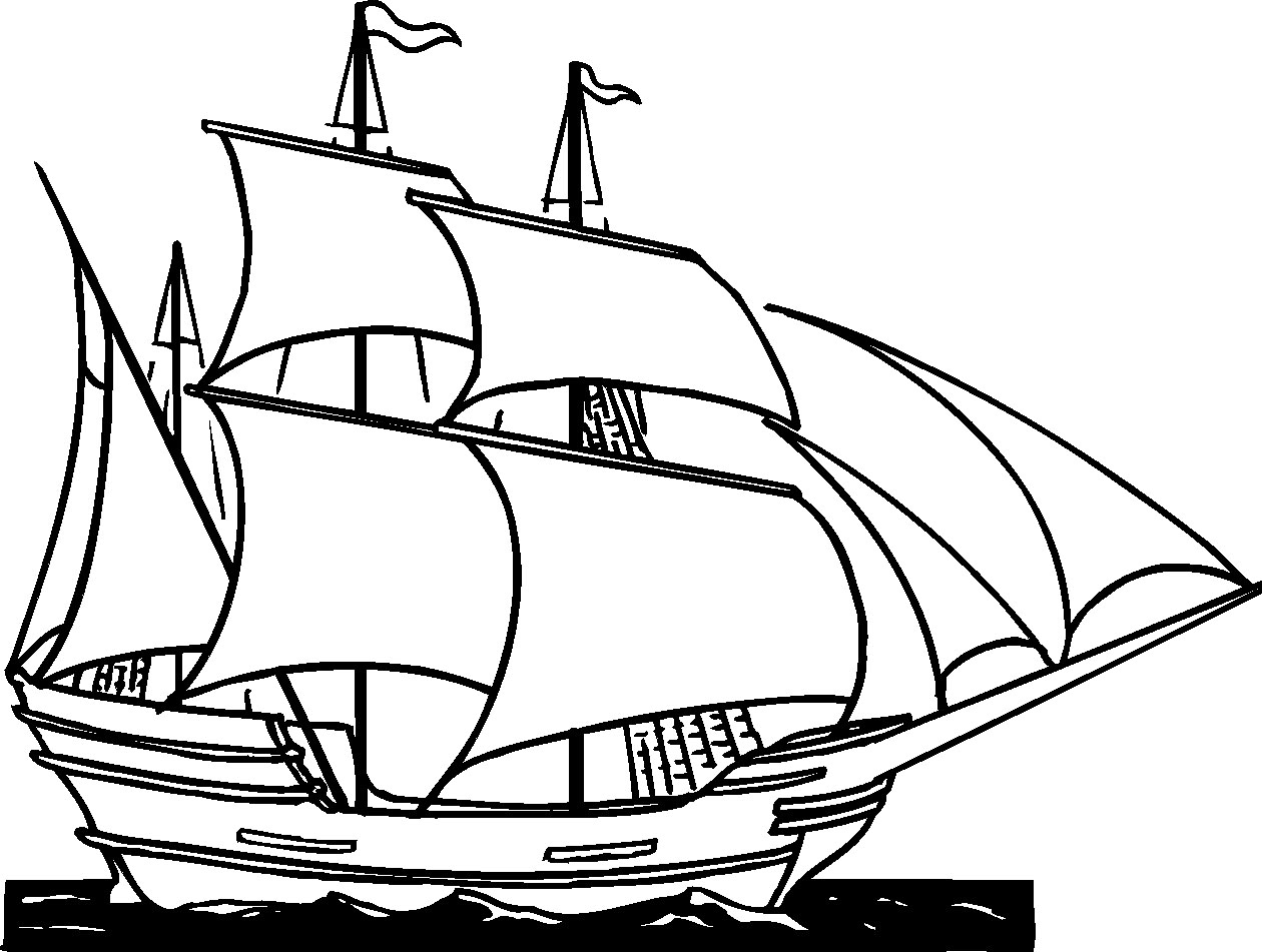 Pirate ship clip art black and white - photo#8