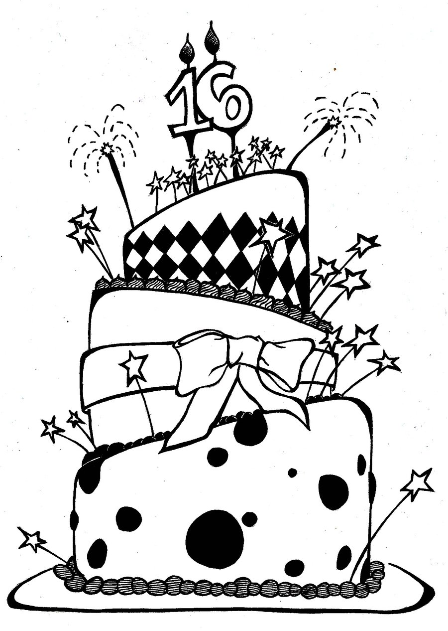 Pictures Of Birthday Cakes Drawings : Cute Birthday Drawings - Cliparts.co
