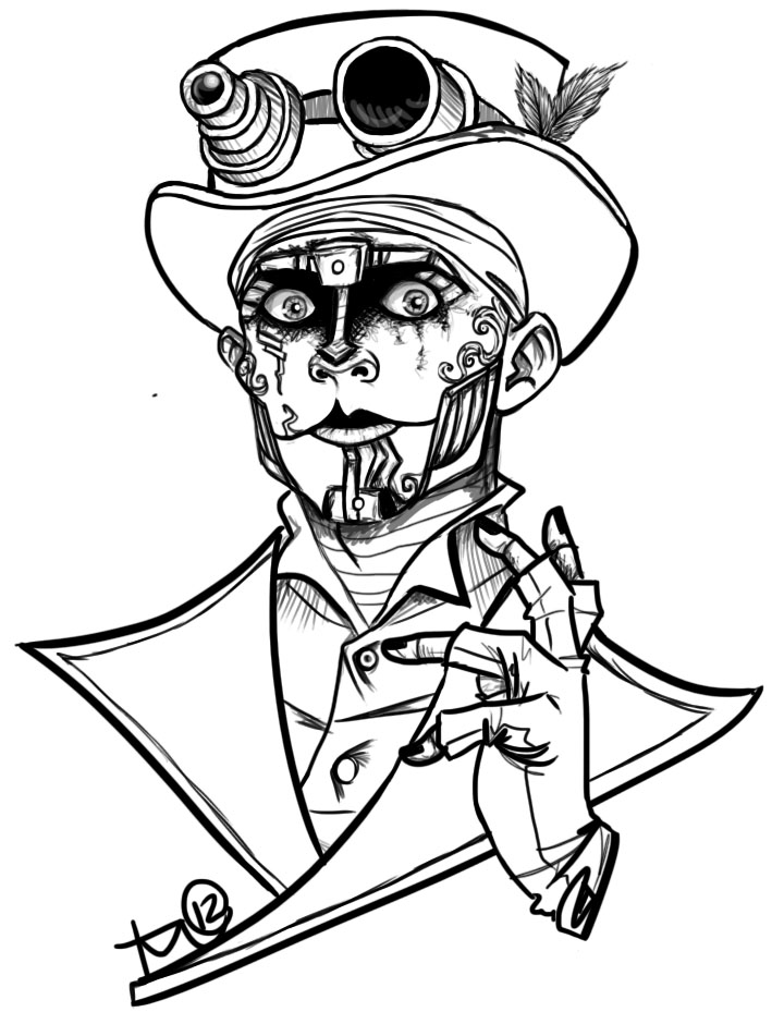 Steam Powered Giraffe: Rabbit Lineart by terahann on deviantART