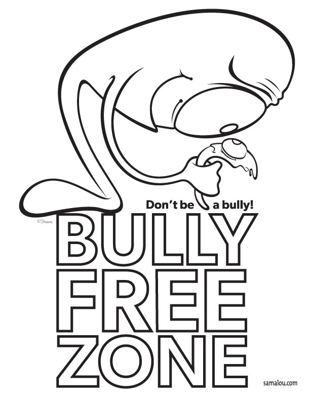 Drawings of bullying posters no bulling colouring pages