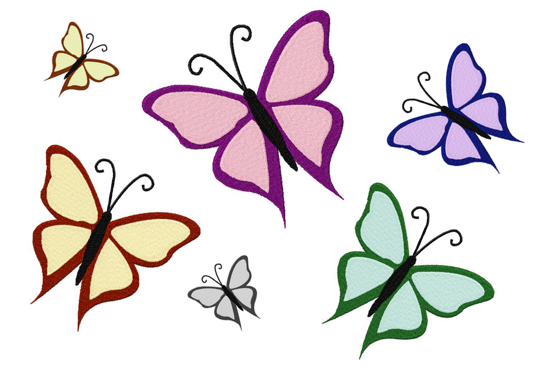 Free machine embroidery butterfly design
