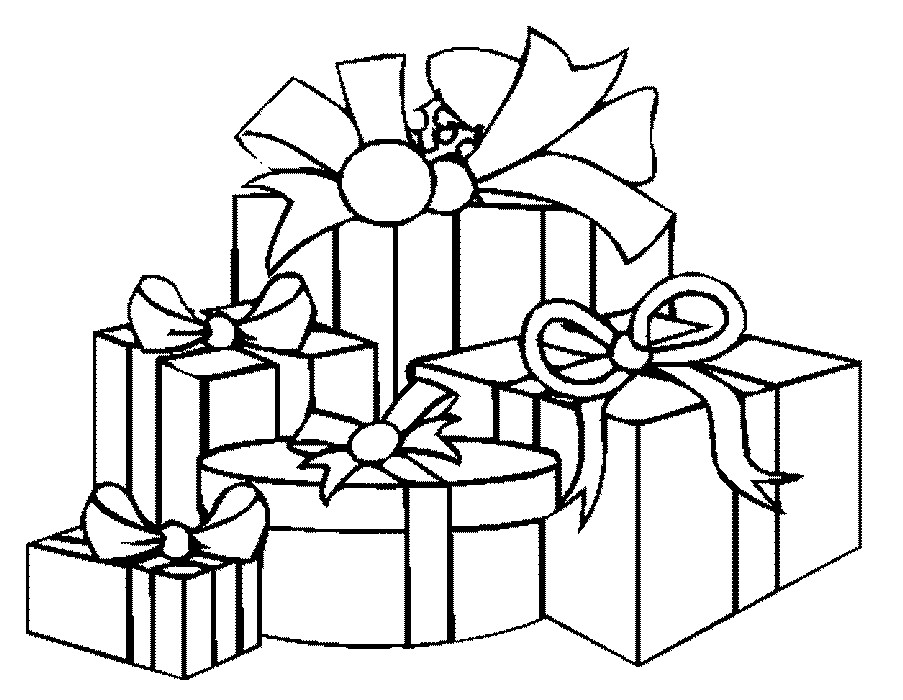 Coloring Pages Of Christmas Presents | Printable Coloring ...