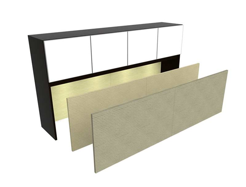 U-Shaped Office Desk With Semi Lateral Pedestal & Hutch CH-V-727 ...
