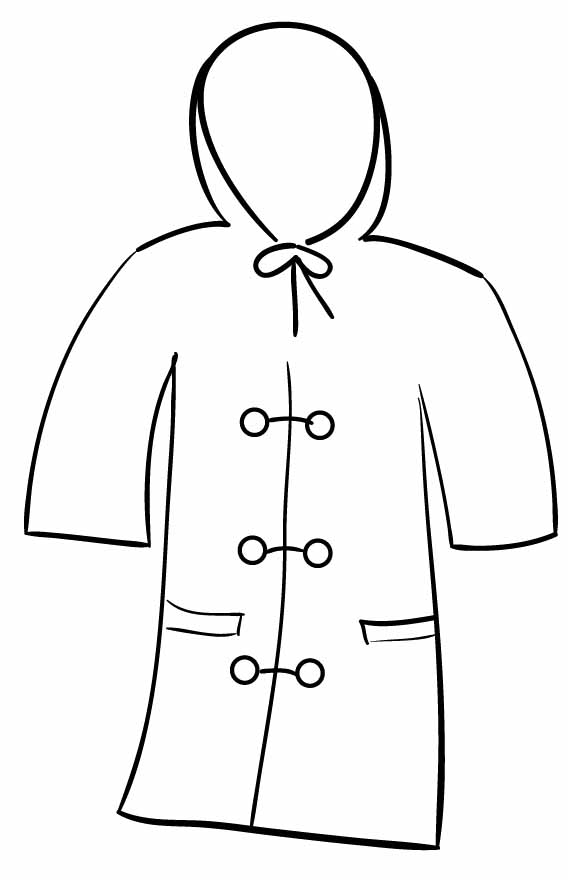 coloring pages of winter coat - photo#26