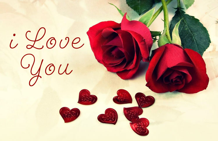 FunMozar I Love You Roses And Hearts - Cliparts.co