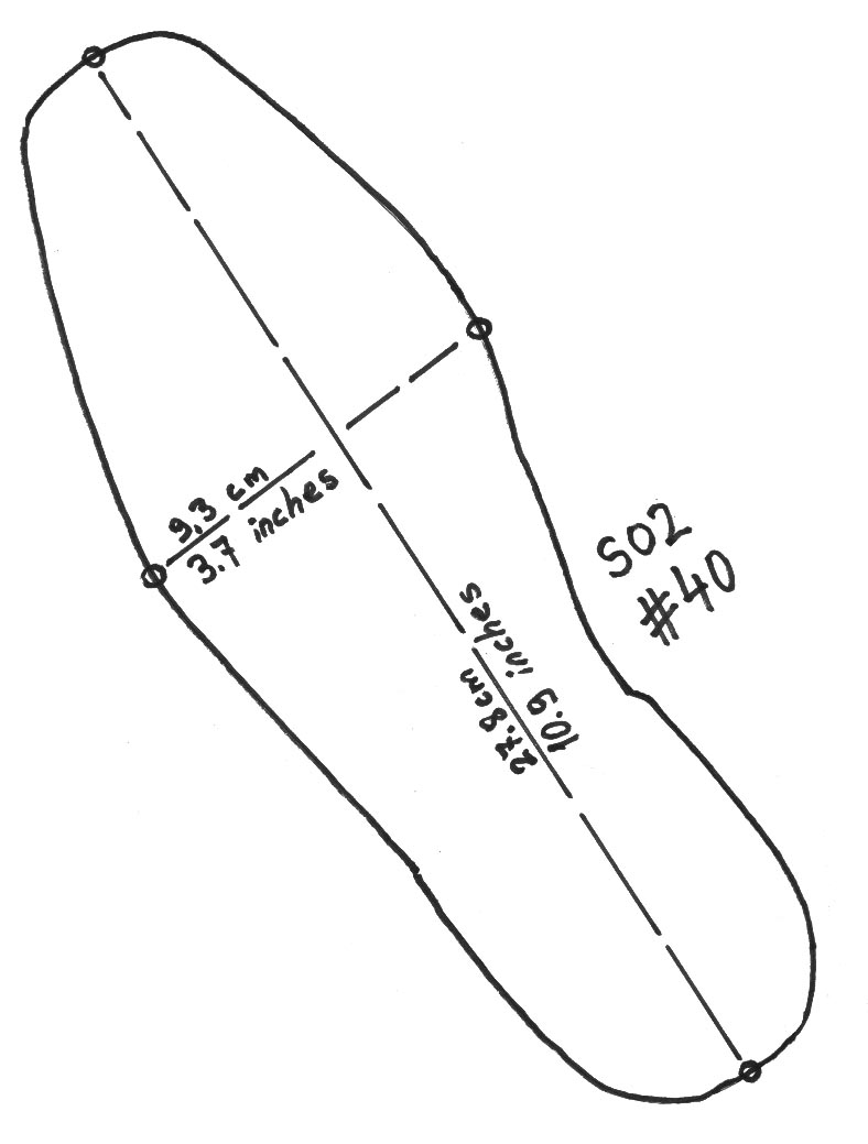 Leather Shoe Template Free