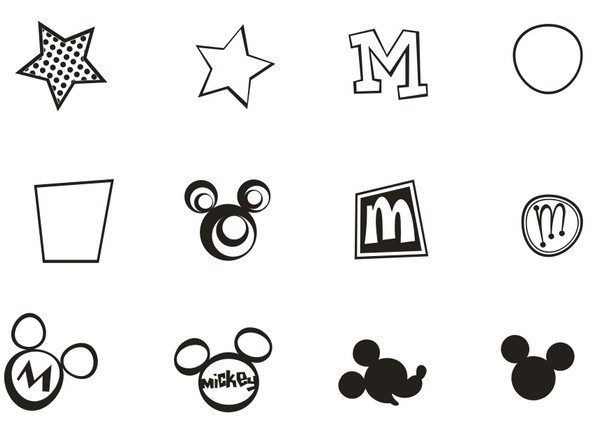 Mickey Mouse Head Silhouette Vector Signs Eps Icon - Free Icons