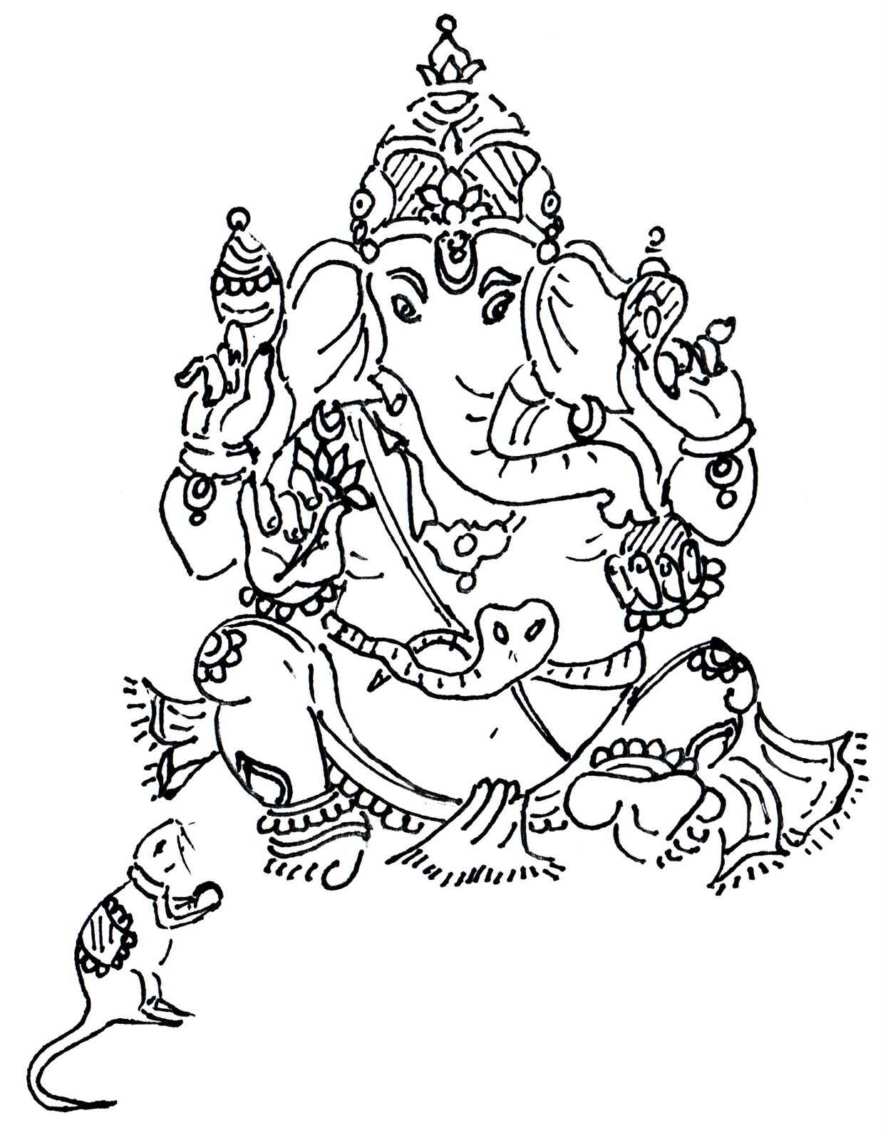 how to draw bal ganesh