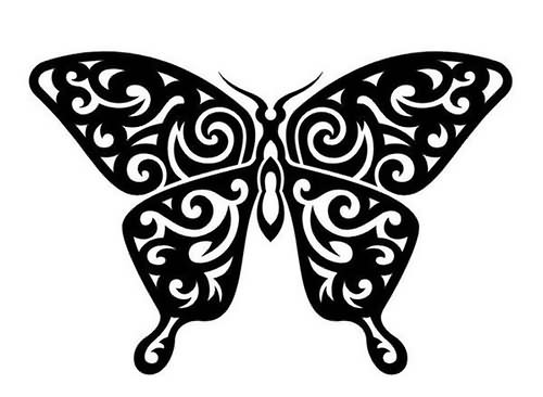 Black And White Butterfly Tattoo | Cool Tattoos Designs