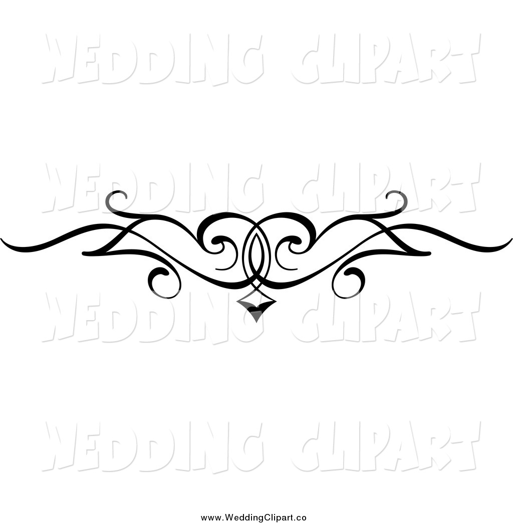 Wedding Card Line Art Designs : Wedding clip art black and white border cliparts