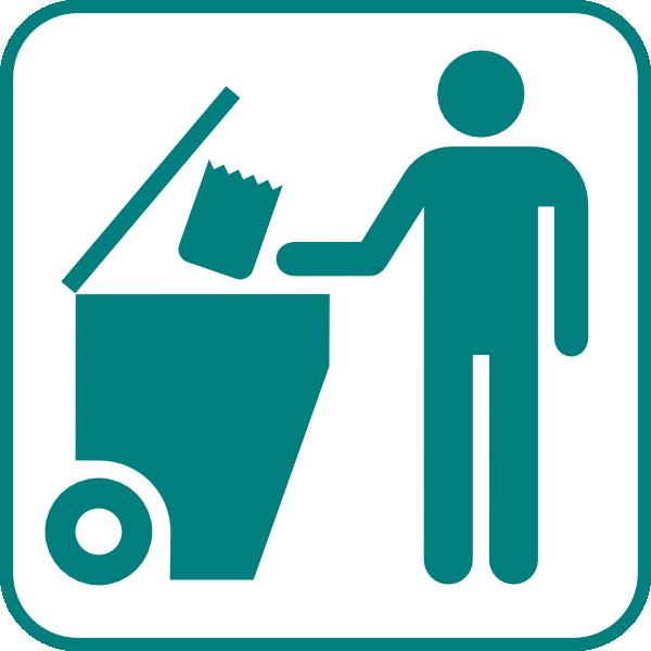 Recycling Bin Icon Clip Art at Clker.com - vector clip art online ...