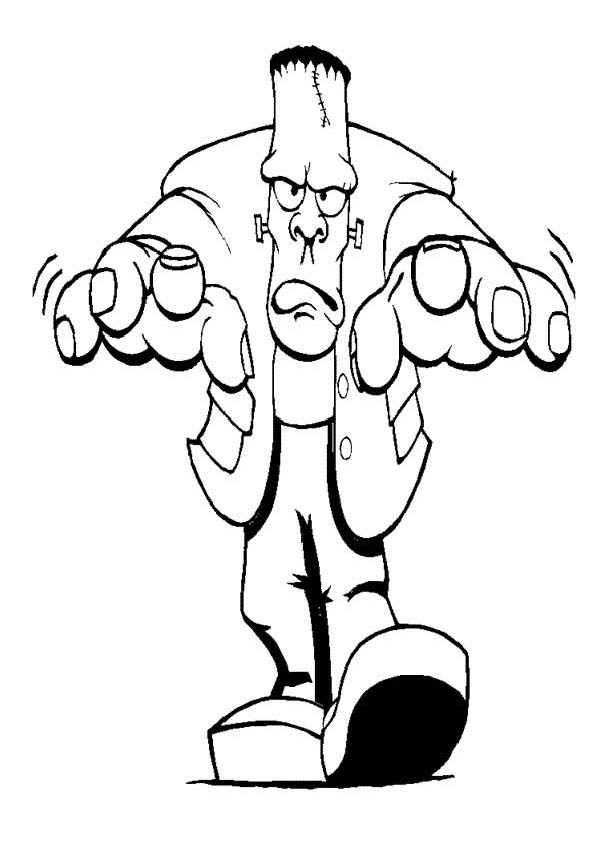free frankenstein coloring pages sketch coloring page