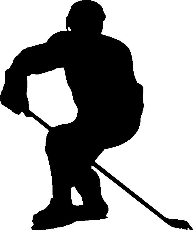 Hockey Clip Art Black And White