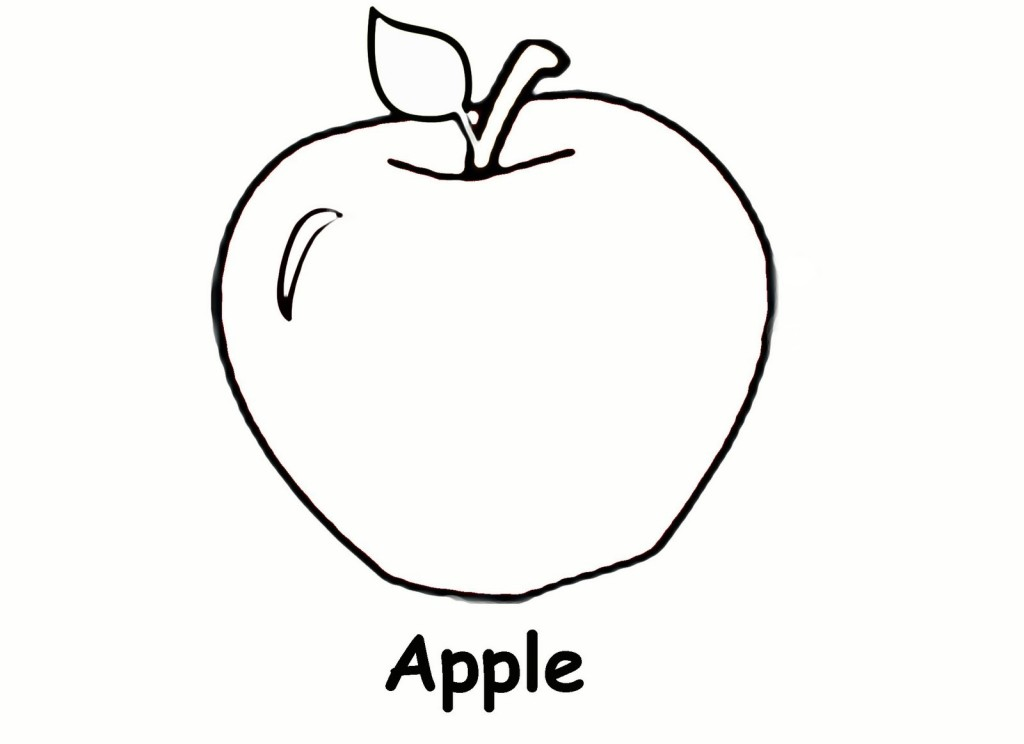 Apple Coloring Pages For Preschoolers : Preschool apple coloring pages tree page funny