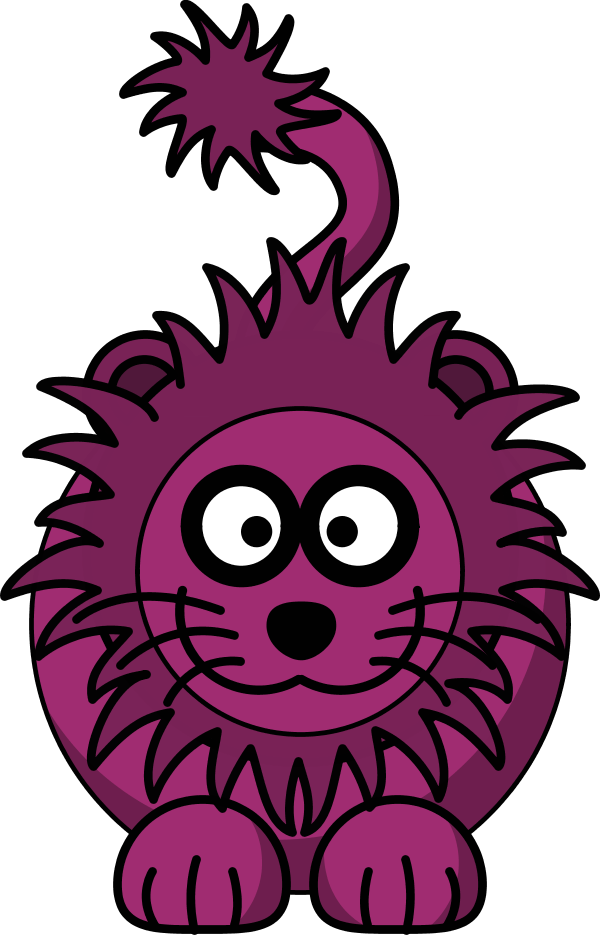Lion cartoon head - photo#14