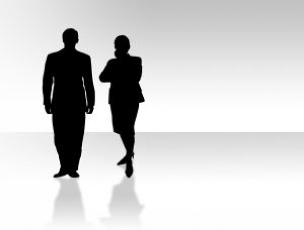Business man and woman silhouette Photo | Free Download