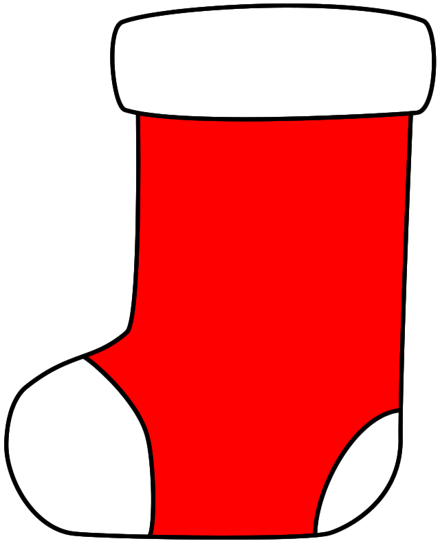 Christmas Stocking - Paper craft (Color Template)