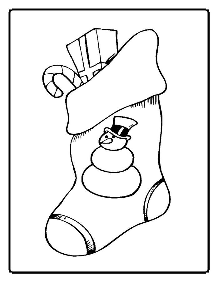 Christmas Coloring Pages Christmas Stocking Printable | Kids ...