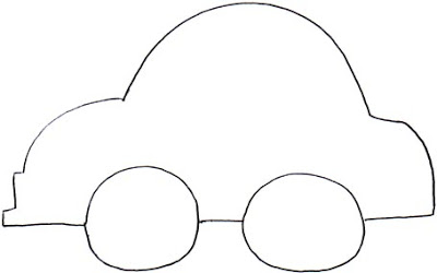 Car outlines for Blank race car templates