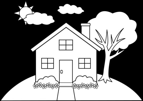 House Line Art Cliparts