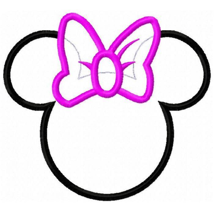Minnie Mouse Silhouette Clip Art - Cliparts.co