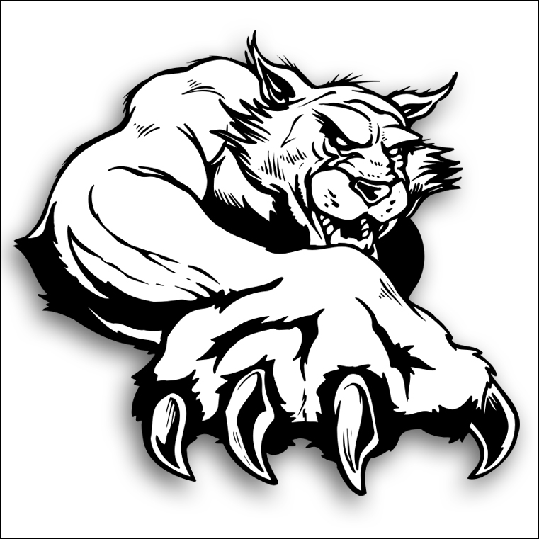 wildcat paw cliparts co free clipart cats black and white free clip art cats away the mice will play