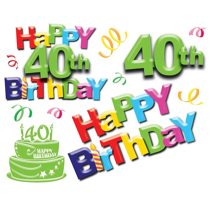 Happy 40th Birthday Clipart Download Page – All About Trees ...