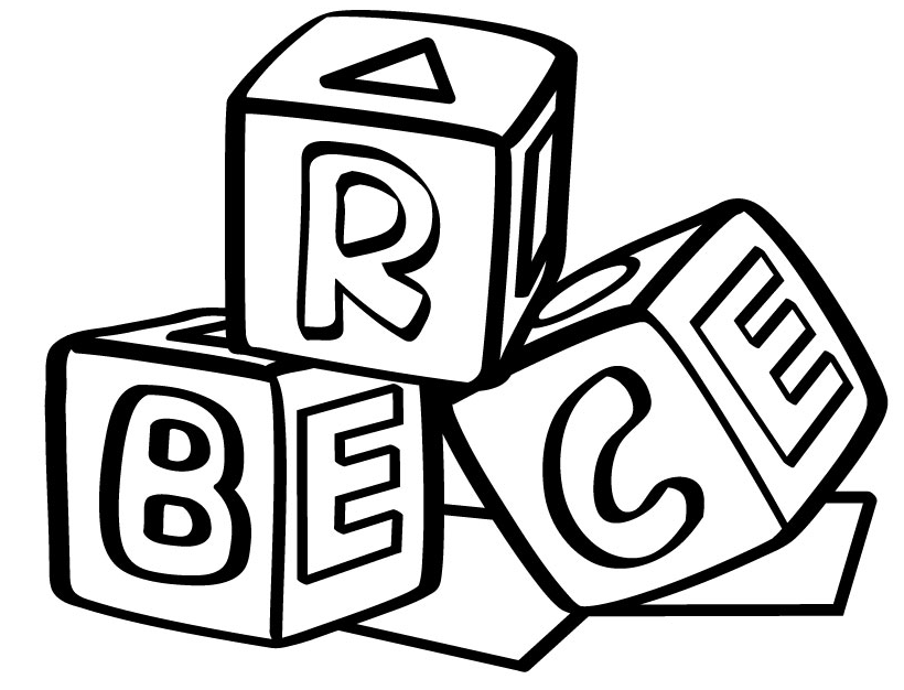 Alphabet Blocks Coloring Pages Free Printable Download