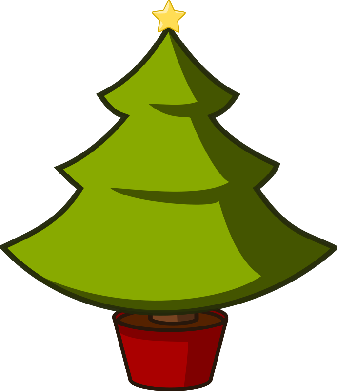 Christmas Tree Silhouette Clip Art - Cliparts.co