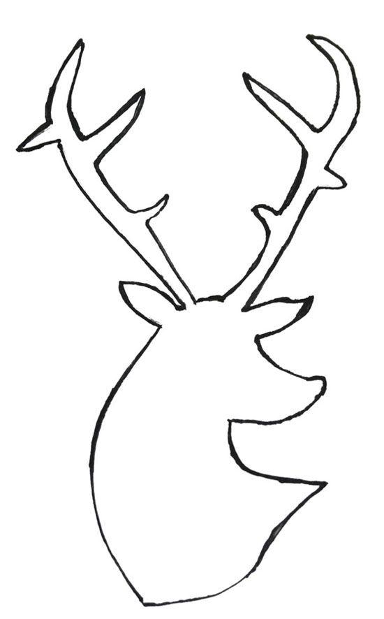 Reindeer head drawing - photo#16
