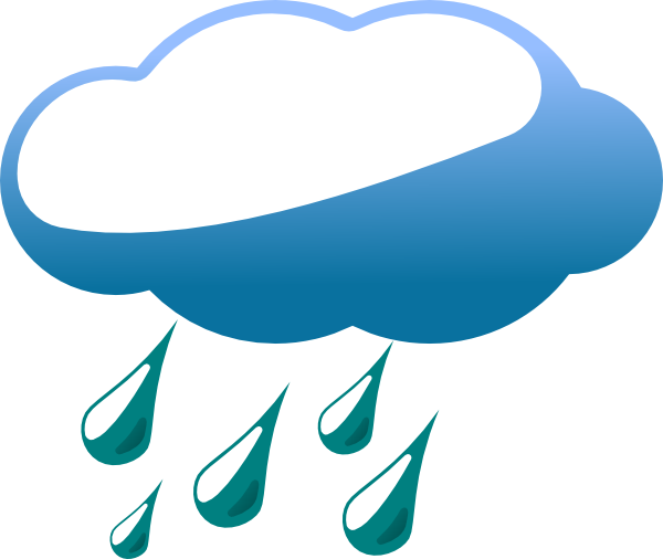Rainy Cloud clip art - vector clip art online, royalty free ...