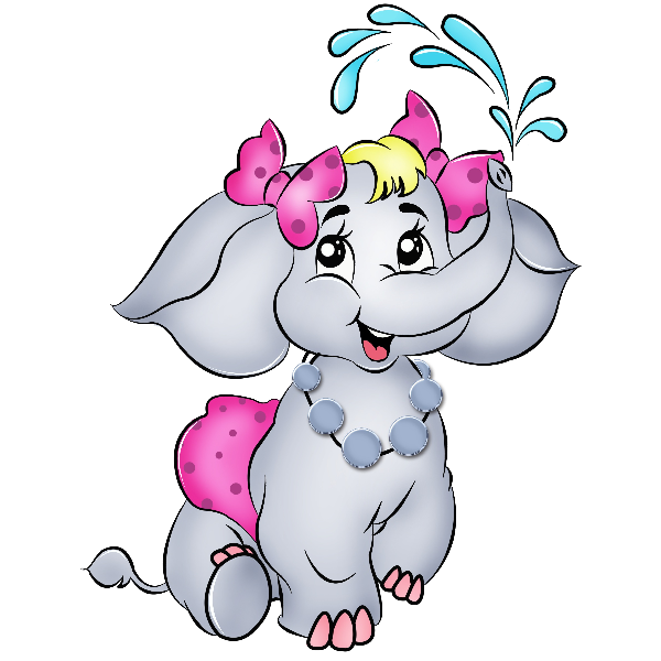 Funny Elephant Cartoon - Cliparts.co