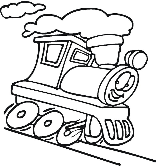 Line Drawing For Kids : Train drawings for kids cliparts