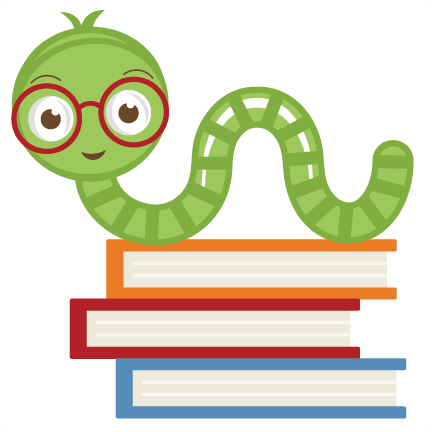 Cute Bookworm SVG cut file cute bookworm clipart free svgs free ...
