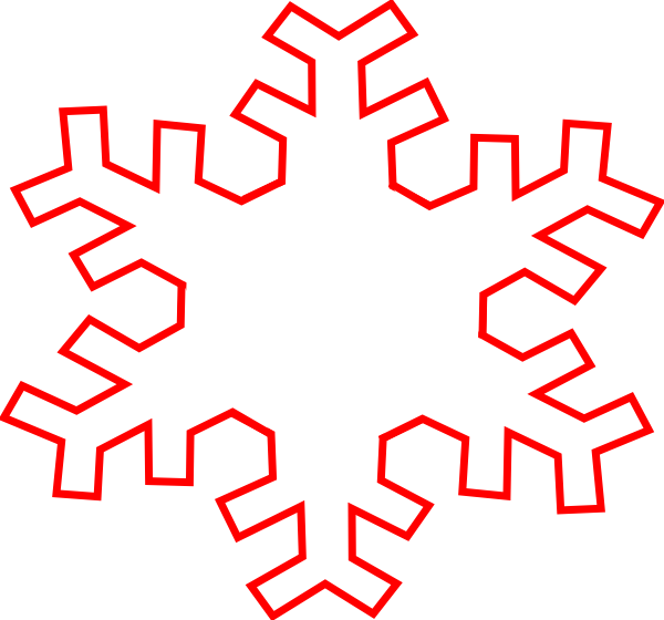 Snow Flake Outline - Cliparts.co